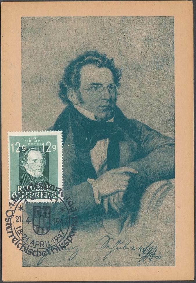 Austria - Scott #491 (1947) maximum card with April 21, 1947, special Vienna postmark