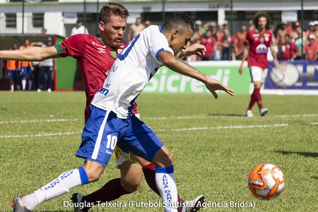 Portuguesa Santista 1 x 2 Água Santa, jogo válido pelo Paulistão A2 de 2019, disputado no dia 10 de fevereiro, no estádio Ulrico Mursa