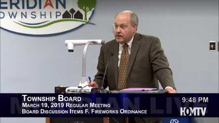 Meridian Township Board Met to Discuss Firework Ordinance