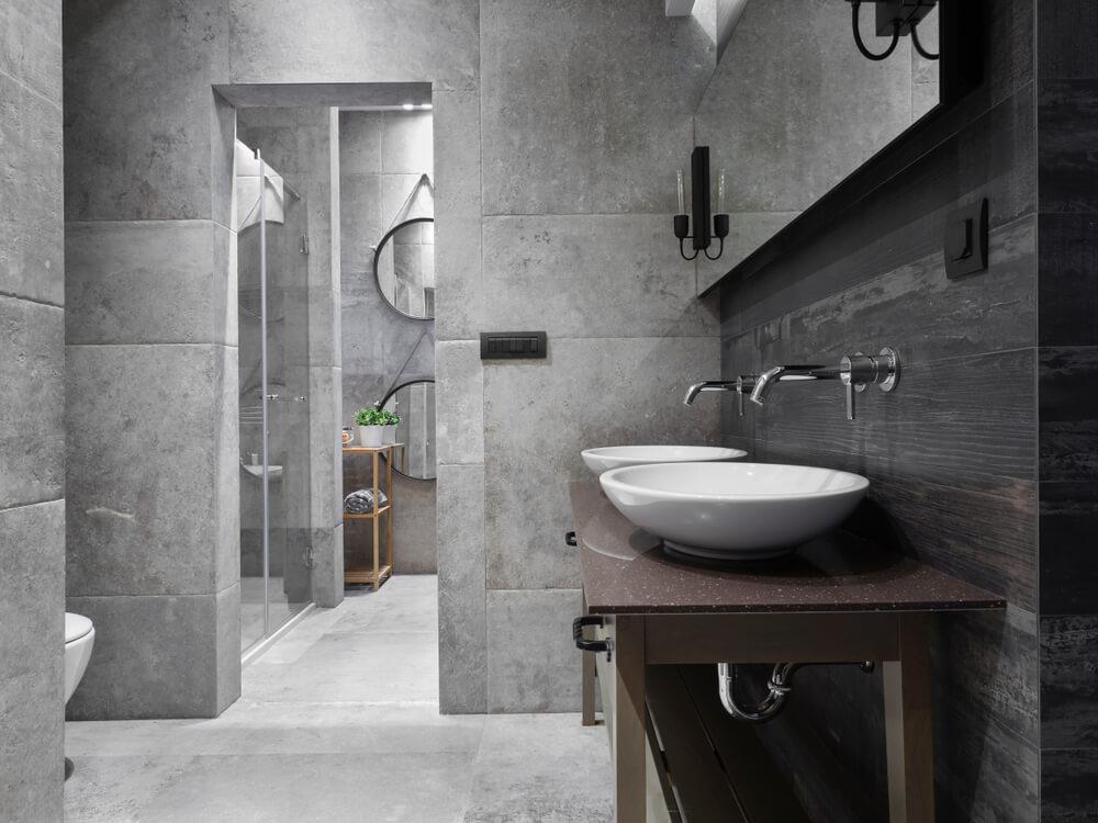 contoh desain kamar mandi gothik