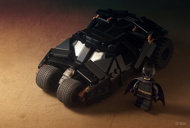 A minifig scaled tumbler to fit the Dark Knight's darkest mood