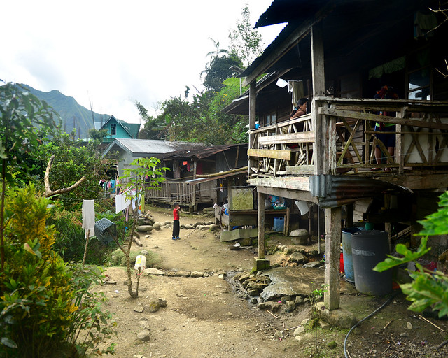 Casas de madera de la aldea de Batad