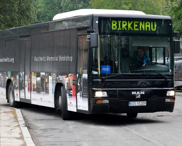 Autobús para llegar a Auschwitz-Birkenau