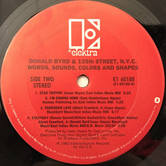 DONALD BYRD AND 125TH STREET, N.Y.C.:WORDS, SOUNDS,COLORS AND SHAPES(LABEL SIDE-B)