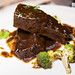 Beef short ribs, parnsip puree, roasted Romanesco