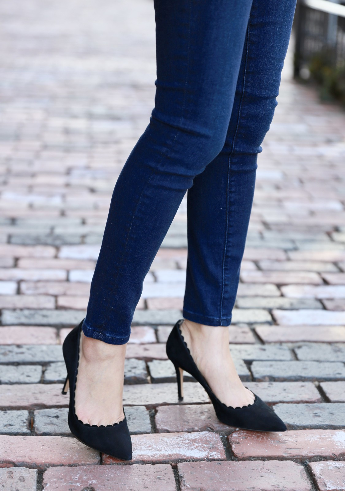 Ann Taylor Mila Scalloped Suede Pumps