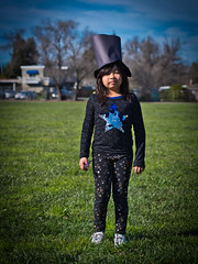 Sabrina with her Abraham Lincoln Hat
