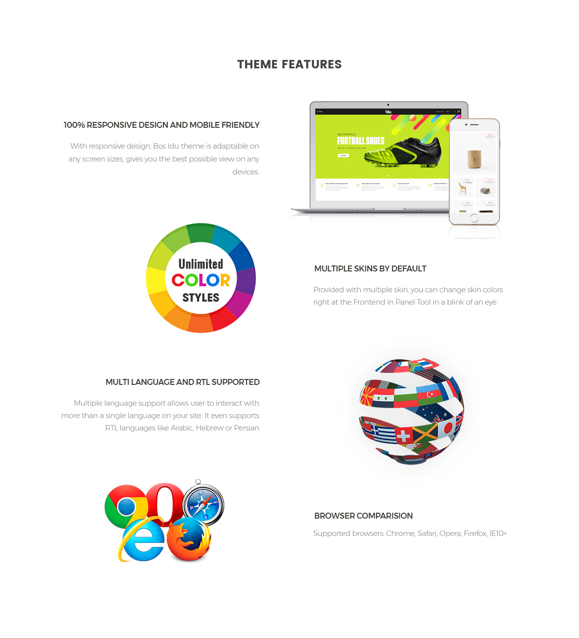 theme features-Bos Idu Prestashop theme-Shoes, Handwatch, Fashion Store
