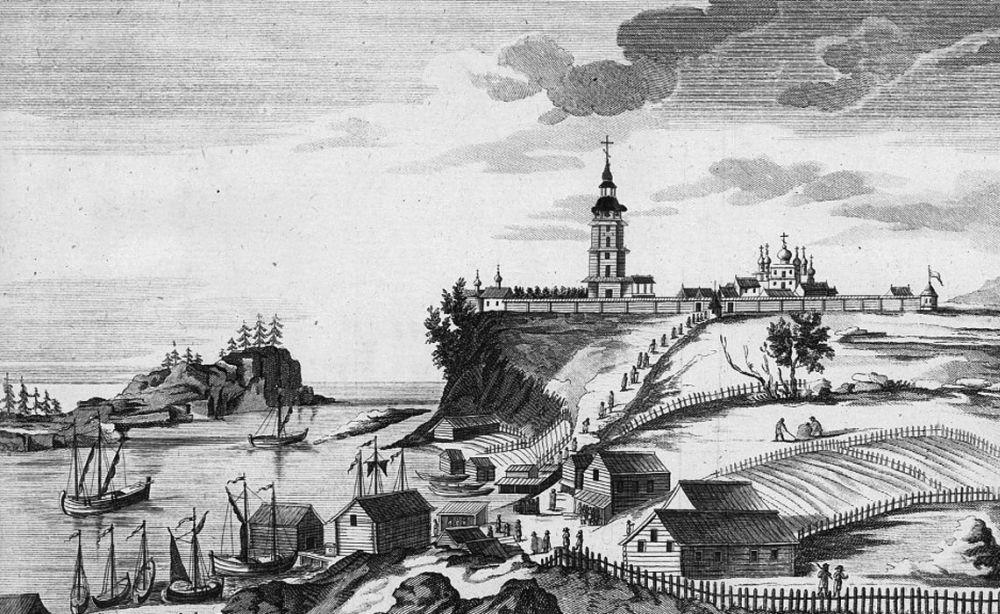 Валаам. Гравюра XVIII века