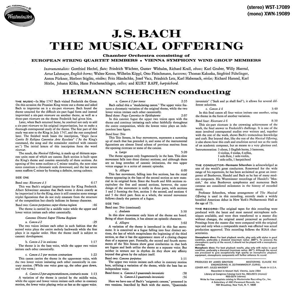 Johann Sebastian Bach - The Musical Offering