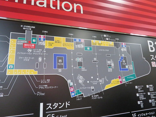 中山競馬場の地下1階フロアマップ