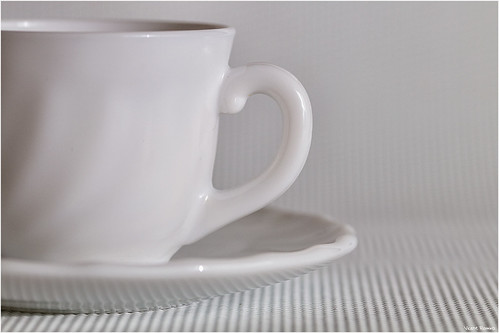 A little coffee on white