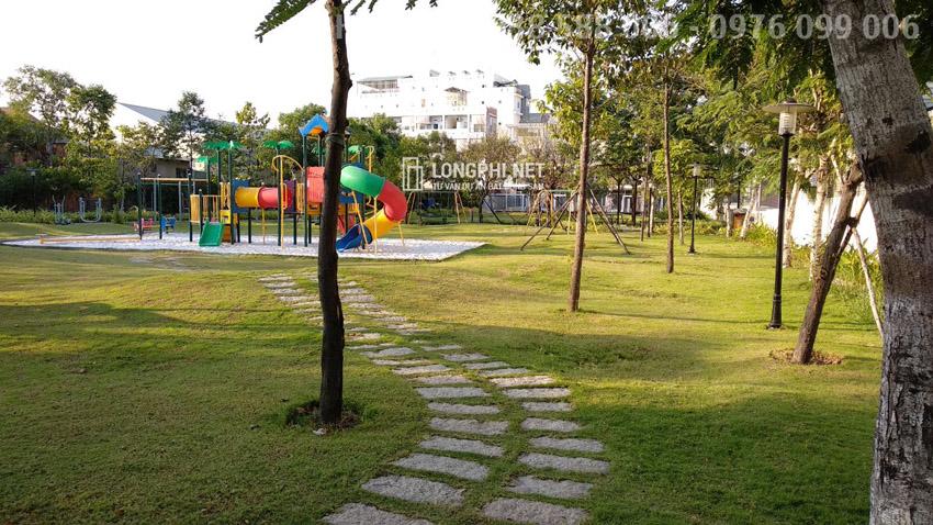 Một góc nhỏ trong công viên nội khu của dự án Jamona Golden Silk quận 7.