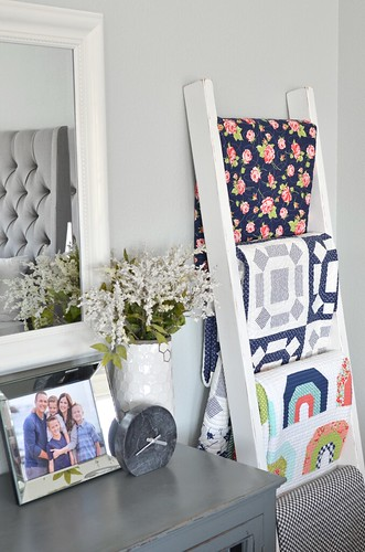 Bedroom- quilt ladder