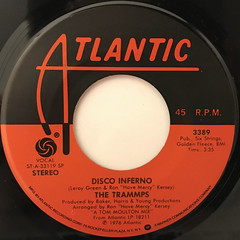 THE TRAMMPS:DISCO INFERNO(LABEL SIDE-A)