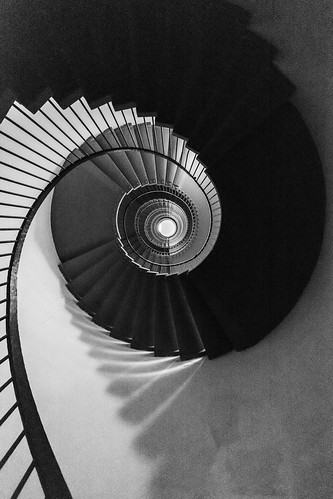 spirale en n&b