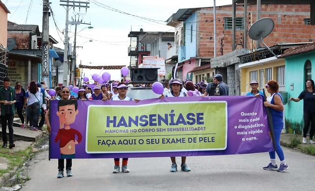 Janeiro Roxo promove caminhada na zona Leste