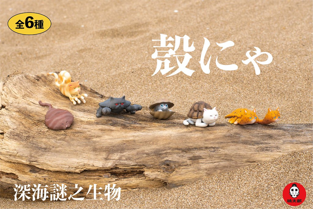 能夠適應大海洋時代的奇異混種貓! Momotaro Toys【殼喵】殼にゃ 謎樣登場~