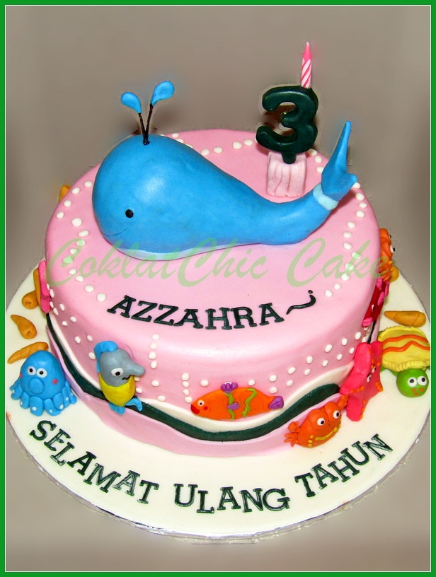 Cake Whale AZZAHRA 22 cm