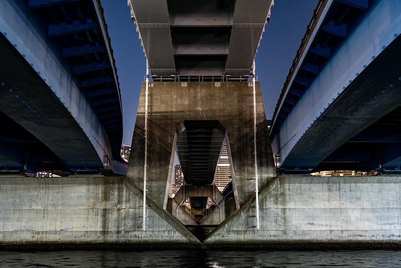 晴海大橋の橋げた