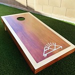 by bartlewife - Sweet DIY corn hole weekend project!