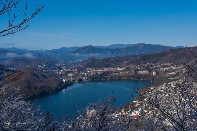 相模湖と大菩薩方面@嵐山