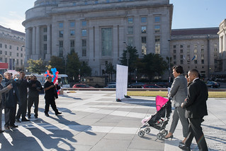 November 1, 2018 Mayor Muriel Bowser kicks off DC Health Link Open Enrollment at Freedom Plaza