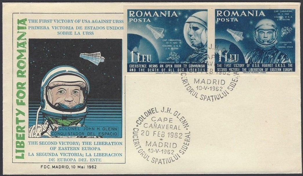 Romanian Government in Exile in Spain (1962) first day cover