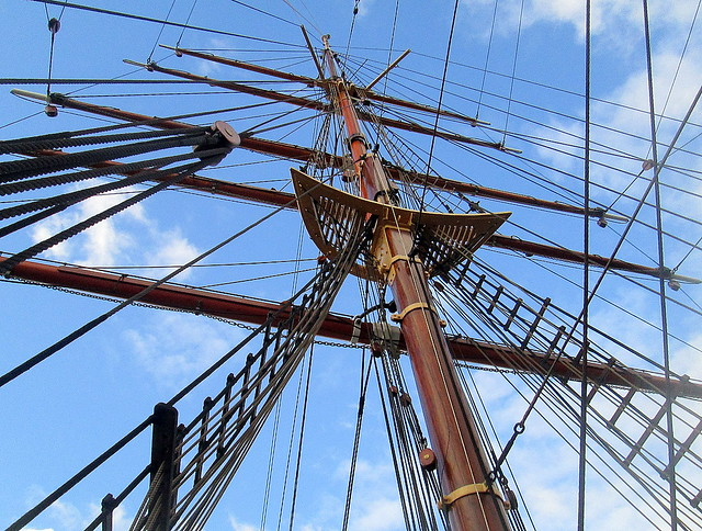 Mast, RRS Discovery, Dundee