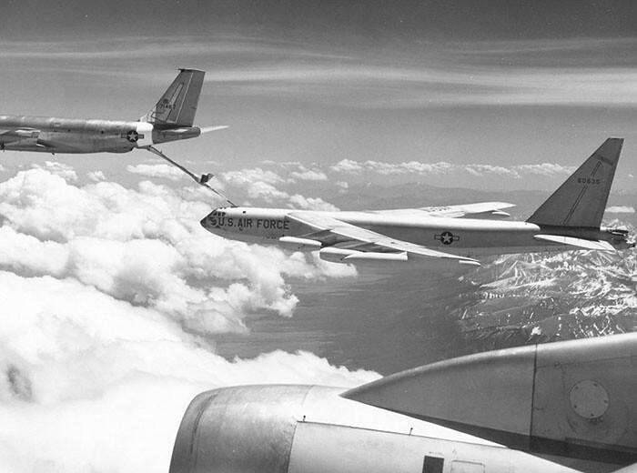 Three WWII aircraft in flight.