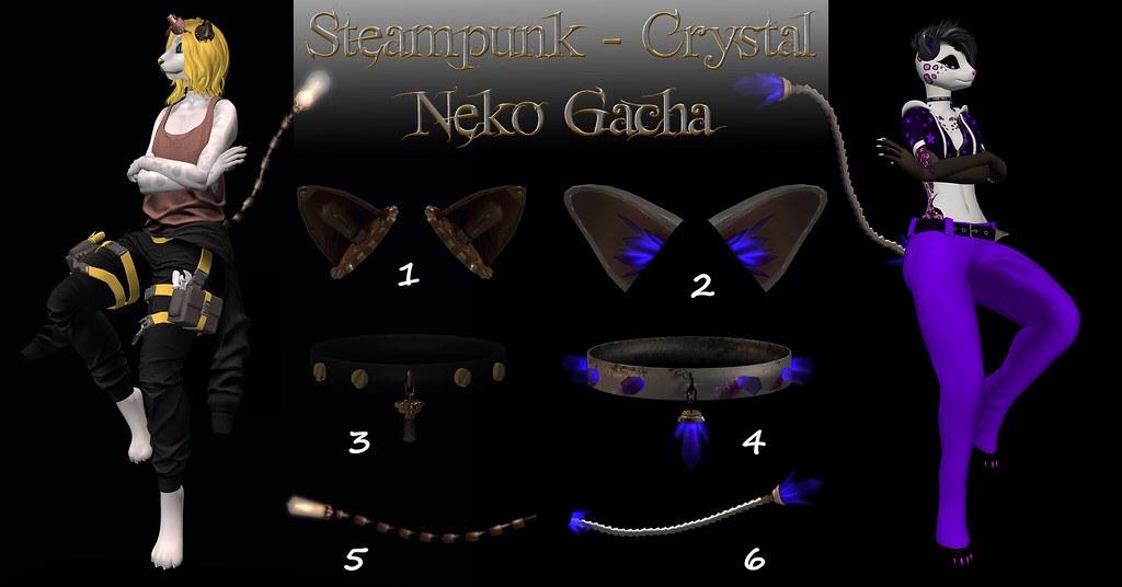 Steampunk & Crystal Neko Gacha
