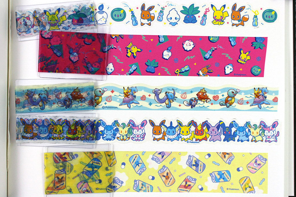 Pokemon Centre Washi Tapes