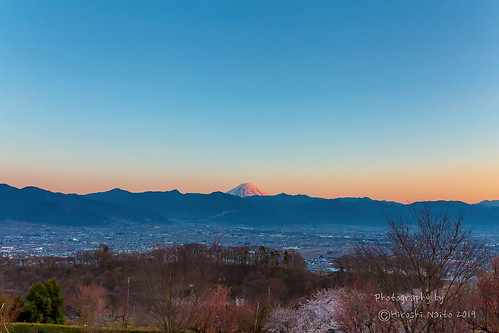 Evening scene of The Kofu Basin