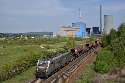 SR 37002 met torpedowagens, Ensdorf, 29-04-2018
