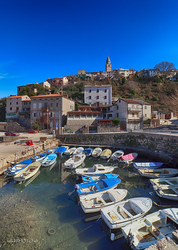 Vrbnik-old, stony town above sea