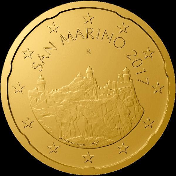 20 eurocentov San Marino 2017