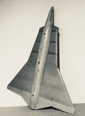 J35 Draken. Modell på Robotmuséet i Arboga.