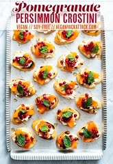 Pomegranate Persimmon Crostini