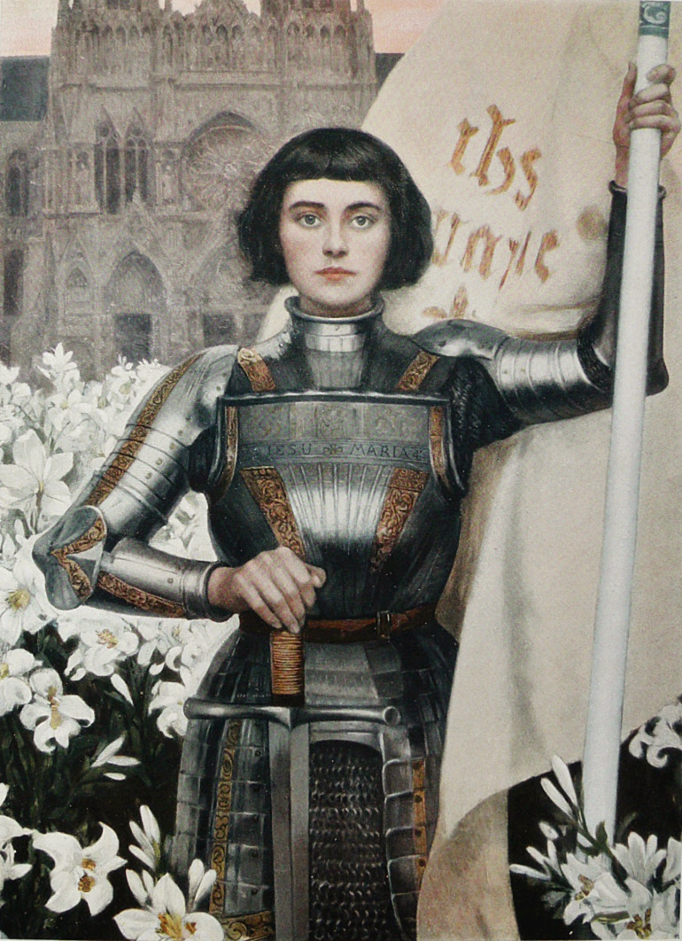 A 1903 engraving of Joan of Arc by Albert Lynch featured in the Figaro Illustre magazine.