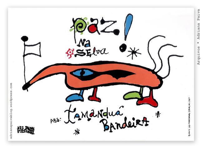 ateliê Arte do Pantanal animais tamanduá bandeira meu pai comandante comandou Antonio Augusto quarteis comando quartel Comando Militar do Oeste 18º Batalhão Logístico 18º B Log Exército Cavalaria militar general generais coronel coronéis oficial filho filhos filha oficiais militares de carreira época em que moramos no Mato Grosso do Sul jornalista Adriana Paiva