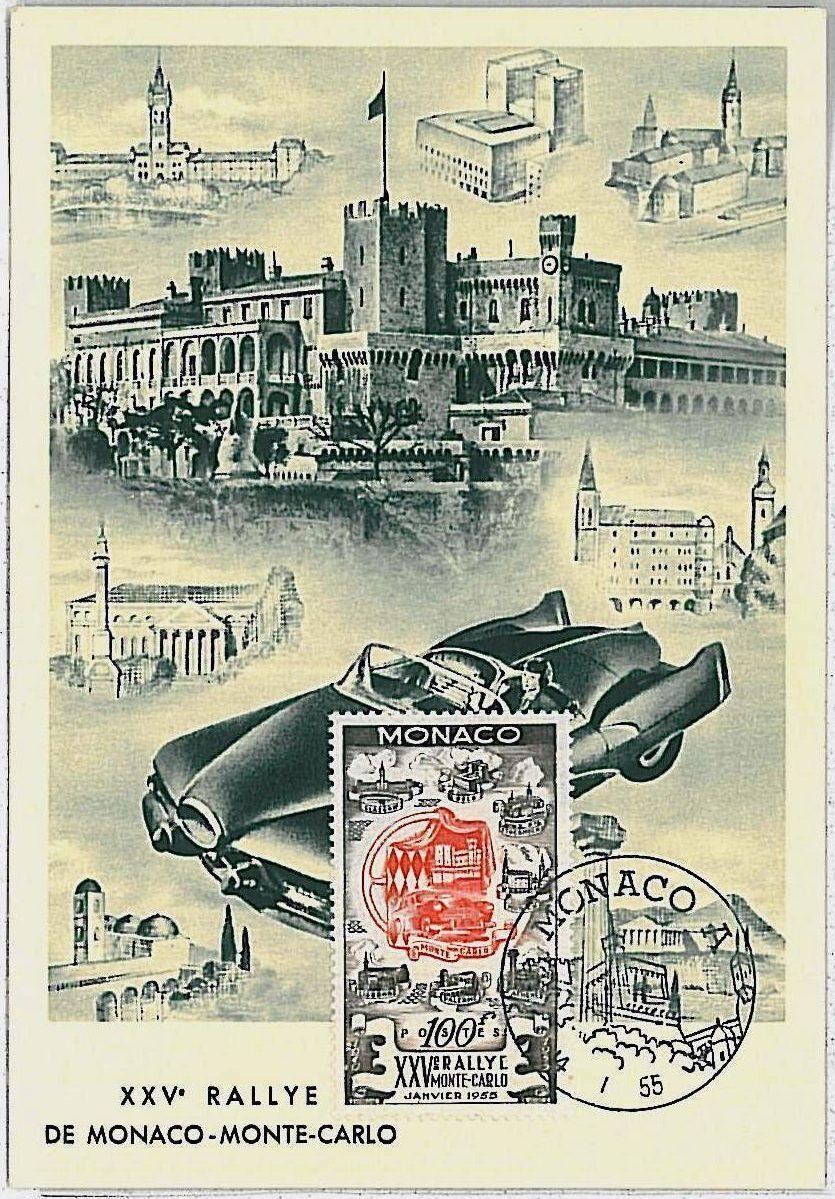 Monaco - Scott #333 (1955) maximum card