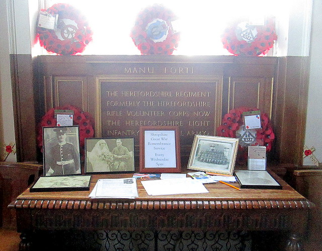 Herefordshire Regiment Memorial, St Chad's, Shrewsbury