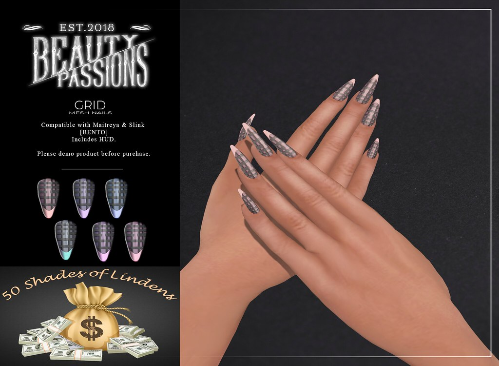 ~Beauty Passions~ GRID@50 Shades of Lindens