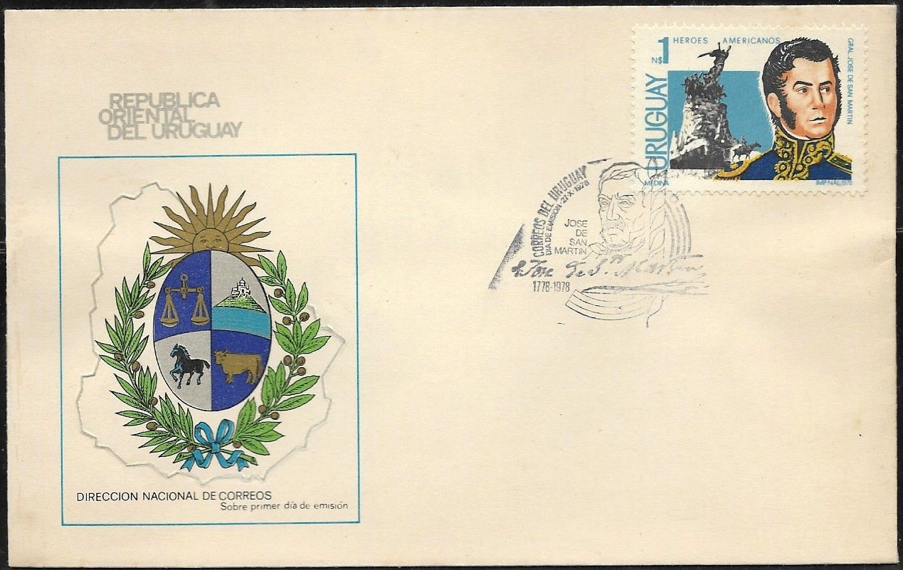 Uruguay - Scott #1010 (1978) first day cover