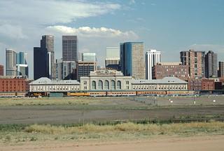 Denver Union Station  Trackside View June, 1998