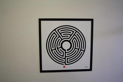 London Underground Labyrinth 215 Woodside Park close up