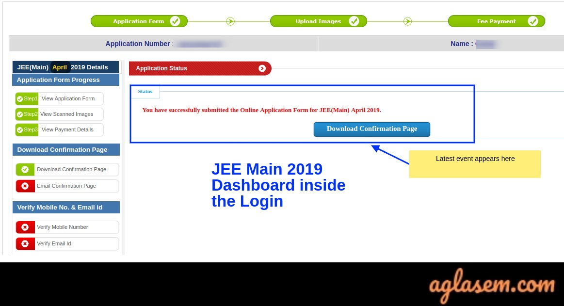 JEE Main 2019 Login - Admit Card / Hall Ticket Download At jeemain.nic.in