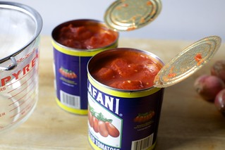 start with two cans tomatoes
