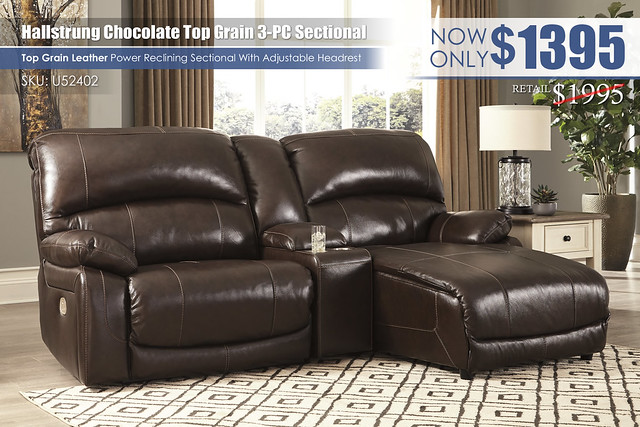 Hallstrung Power Reclining 3 PC Sectional_U52402