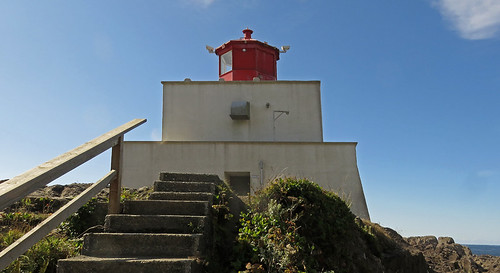 Lighthouse on the Wild Pacific Trail near Ucluelet on Vancouver Island, BC, Canada